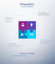 Abstract Infographics Puzzles style Vector