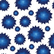 vector pattern with flowers