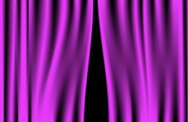 Luxury creases purple curtain (vector)