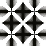 Black and white abstract vintage seamless background