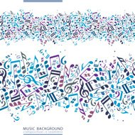 Vector colorful horizontal music canvas
