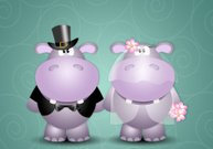 Couple of hippos spouses
