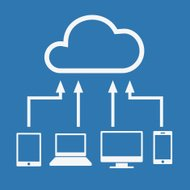 Cloud computing concept. Various devices like Smartphone, Tablet