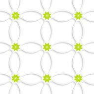 White ornament net and green flowers