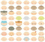 lots of baby faces characters