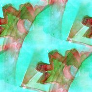 pattern design seamless red, green watercolor texture background