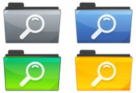 Search Folder Icon Set