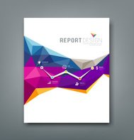 Cover report colorful geometric shapes info-graphic design