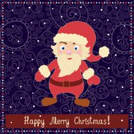 Have a Holly Merry Christmas. Beautiful holiday card in vector