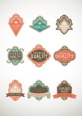 Vintage label Style with Nine Design Element , collection 17