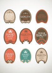 Vintage label Style with Nine Design Element , collection 27