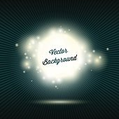 Sparkling abstract background with burst rays.