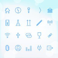 20 Trendy Thin Icons for web and mobile Set 7