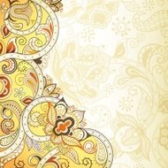 Abstract Yellow and Orange Floral