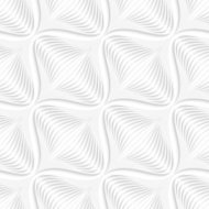 White geometrical diagonal onion shape seamless pattern
