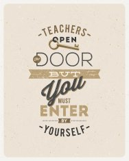 Typographical vector design - quote about a teacher