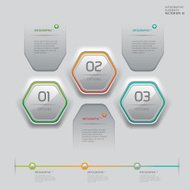 Modern white technology infographics banner