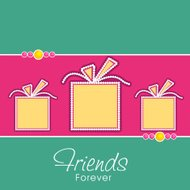 Happy Friendship Day concept with stylish yellow gift boxes.