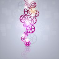Concept Busines Gears Background