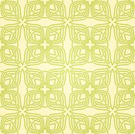 Seamless abstract yellow pattern with green lines