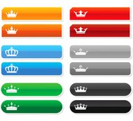 six web internet royal buttons with rollover states