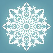 Decorative snowflake, Christmas lace ornament