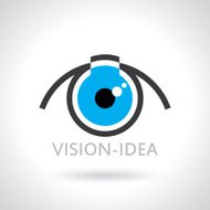 vision and ideas sign,eye icon,light bulb symbol
