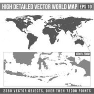vector high detailed world map