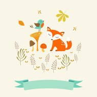 Cute autumn card
