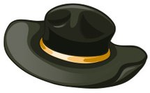 Black hat with a yellow belt