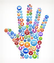Human Palm royalty-free vector Social Networking and Internet Ic