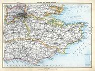 Antique map of South East England