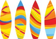abstract water surf board template