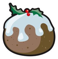Christmas Design Element - Pudding