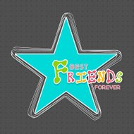 Beautiful Friendship Day greeting card design with blue star.