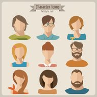 Vector flat characters