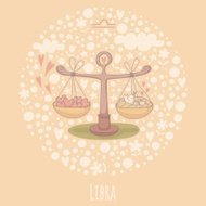 Cartoon illustration of the scales (Libra)