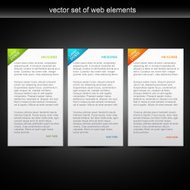vector set of web banner