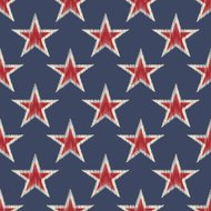 seamless retro stars pattern
