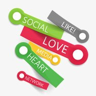 Vector social like tag cloud of stickers