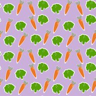 Vegetable vector seamless background