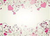 Heart with swirls and hearts ornament, Element for design