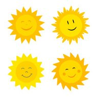 Suns with smile illustrations