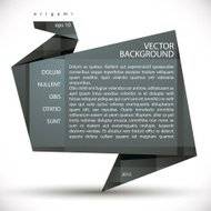 Origami style abstract vector background.