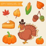 Thanksgiving design elements collection