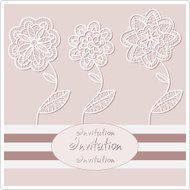 Abstract background, decorative graphic flowers, wedding invitat