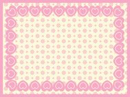 Victorian Eyelet Copy Space Background with Border of Hearts