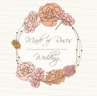 Invitation card with flower vector illustration