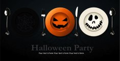 Vector of Poster, banner for Halloween Party Night