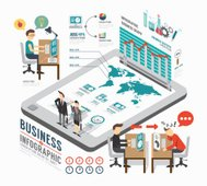 Infographic business template design . isometric concept vector